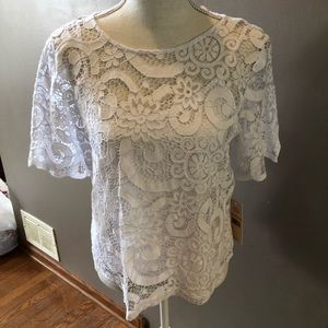 NWT! Beautiful White Top By Nanette Size S